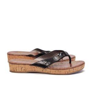 SAM EDELMAN|| tanya wedge slide sandal black 6m